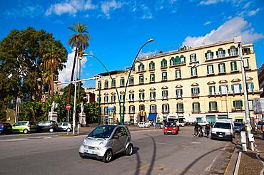 Piazza Vittoria square Chiaia district Naples city La Campania region southern Italy Europe