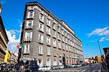 Streets surrounding Piazza del Municipio square Santa Lucia district Naples city La Campania region southern Italy Europe