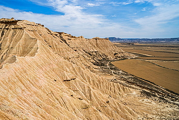 Natural park Bardenas Reales in Navarra, Spain