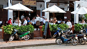 Restaurant old quarter Luang Prabang Laos