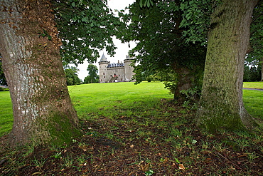 view of the gardens of the castle combourg, Ille et Vilaine, Brittany, France