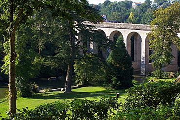 bridge in the town of Clisson, Loire Atlantique, France