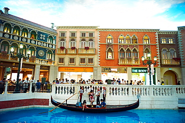 Tourists at The Venetian Hotel in Macau, China