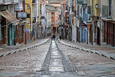 Calle Balborraz street in Zamora, Castile and Leon, Spain