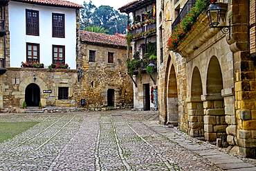 Ramon Pelayo Square, Santillana del Mar, Cantabria, Spain