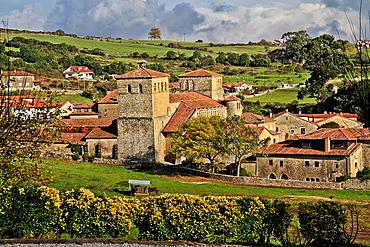 Romanesque collegiate church, Santillana del Mar, Cantabria, Spain