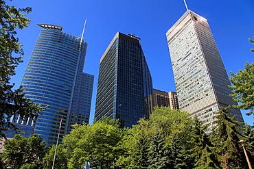 Canada, Quebec, Montreal, Square Dorchester, skyscrapers,