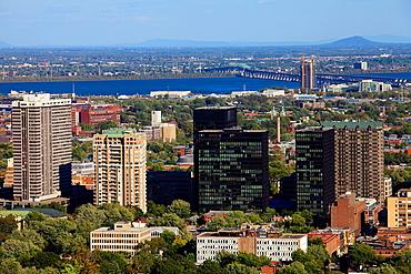 Canada, Quebec, Montreal, Westmount Square area, skyline,