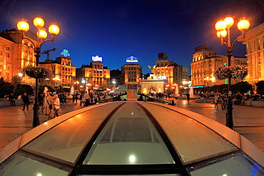 Ukraine, Kiev, Kyiv, Independence Square, Maidan Nezalezhnosti,