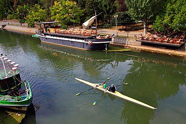 Romania, Timisoara, Bega Canal, boating,