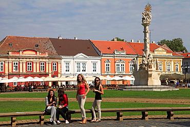 Romania, Timisoara, Piata Unirii, people,