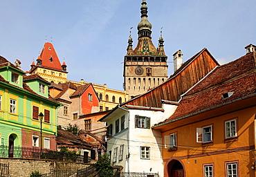 Romania, Sighisoara, Clock Tower, old town,