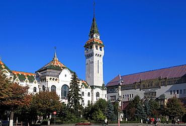 Romania, Targu Mures, County Council Building, Culture Palace,