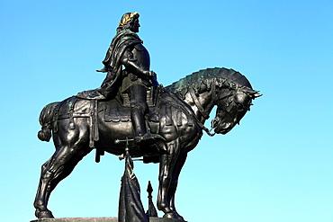 Romania, Cluj-Napoca, Hungarian King Matthias Corvinus statue,