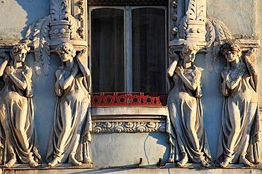 Romania, Cluj-Napoca, historic architecture, statues,