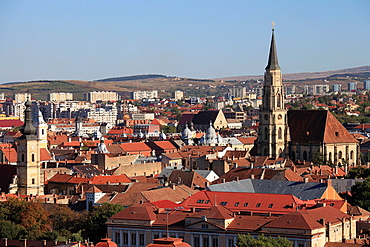 Romania, Cluj-Napoca, skyline, general view,