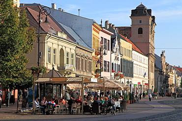 Slovakia, Kosice, Main Square, cafe, people,