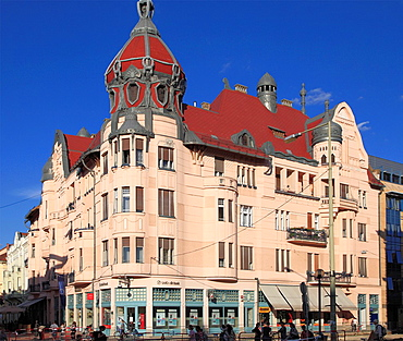 Hungary, Szeged, Dugonics Square, Ungar-Mayer Palace,