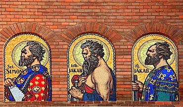 Hungary, Szeged, Votive Church, Cathedral, mosaics,