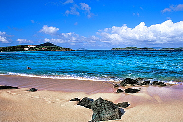 St Thomas beautiful beaches and blue water at famous Sapphire Beach