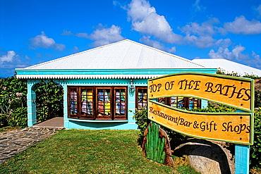 The Baths of Virgin Gorda in British Virgin Islands a restaurant called The Top of the Baths