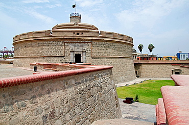 Real Felipe fort in Lima city, Peru, King Tower