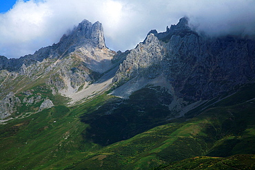 Mountain scenery from the port of Pandetrave  National Park Picos de Europa