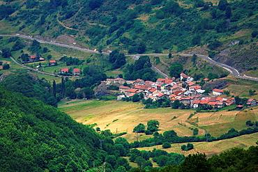 View of the village of Santa Marina de Valdeon  National Park Picos de Europa
