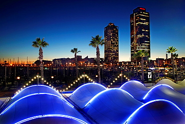 Port Olimpic  Mapfre tower and hotel Arts  Barcelona