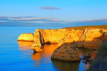 Praia da Marinha, Lagoa, Marinha Beach, Algarve, Portugal, Europe.