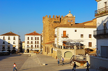 Caceres, Main Square, Plaza Mayor, UNESCO world Heritage site, Extremadura, Spain