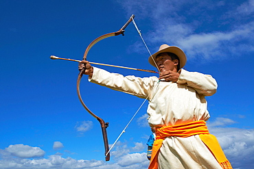 Mongolia, Khentii province, Badshireet, Naadam festival, Buriat population, archery tournament