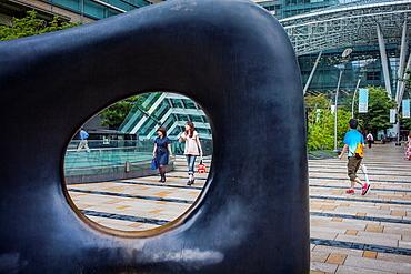 Sculpture Shape of mind by Kan Yasuda, in Tokyo midtown, roppongi, tokyo, japan