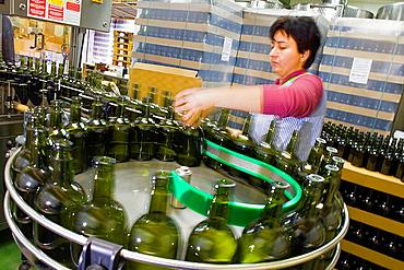 Bottleneck of Ratafia in Ratafia Russet,warehouse of Ratafia,2 Santa Pau street,Olot,Girona province, Catalonia, Spain