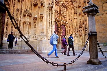 Main entrance of New cathedral,Salamanca,Spain