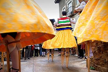 Danza de los Zancos folk dance, Anguiano, La Rioja, Spain
