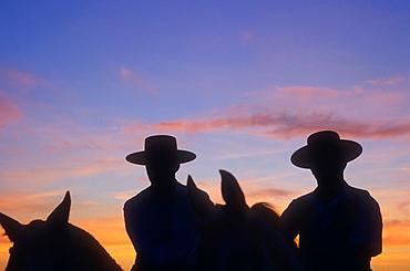 El Rocio Romeria pilgrimage ,`Romeros¥Pilgrims at El Rocio, Almonte, Huelva province, Andalucia, Spain,