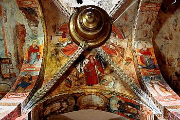 Salardu  Sant Andreu church  Interior  Paintings,Aran Valley,Pyrenees, Lleida province, Catalonia, Spain