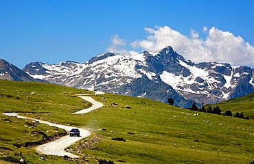 Plan de Beret  Road to Montgarri,Aran Valley,Pyrenees, Lleida province, Catalonia, Spain