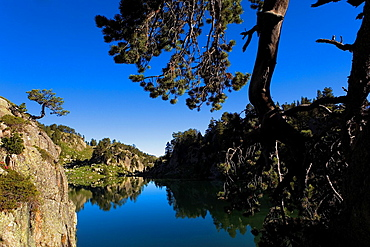 Estany Long,Colomers cirque,Aran Valley, Aiguestortes and Estany de Sant Maurici National Park,Pyrenees, Lleida province, Catalonia, Spain