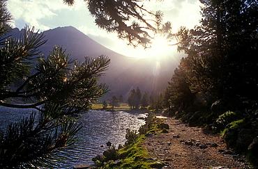 `Estany Llong¥,Llong lake,Aiguestortes i Estany de Sant Maurici National Park,Pyrenees, Lleida province, Catalonia, Spain