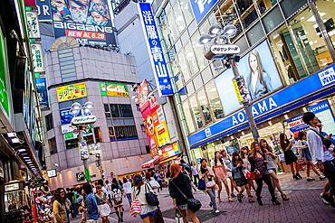 Main street of Shibuya Tokyo city, Japan, Asia