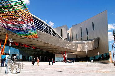 Access main entrance Exhibition and Congress Center of Malaga  Malaga, Andalusia, Spain, Europe