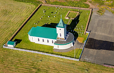 Reykjahlid Church, Reykjahlid, Iceland The village of Reykjahlid has approx  300 people and is situated on the shores of Lake Myvatn, Northern Iceland