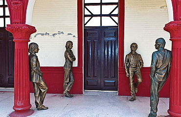 Bayamo Cuba second oldest Cuban city The Beatles Museum with bronze statues of the Beatles