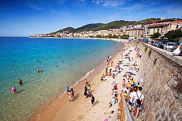 Ajaccio beach Ajaccio Corsica, France