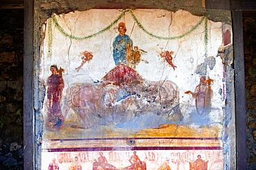 Roman Frescos of Pompei arhaeological site