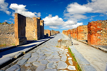 Street of Pompeii archaeological site