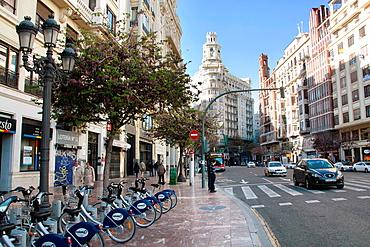 Marques de Sotelo Avenue, Valencia, Comunitat Valenciana, Spain, Europe.