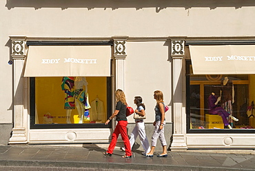 luxury trendy fashion shop Eddy Monetti in S Caterina street, Chiaia district, Naples, Campania region, southern Italy, Europe